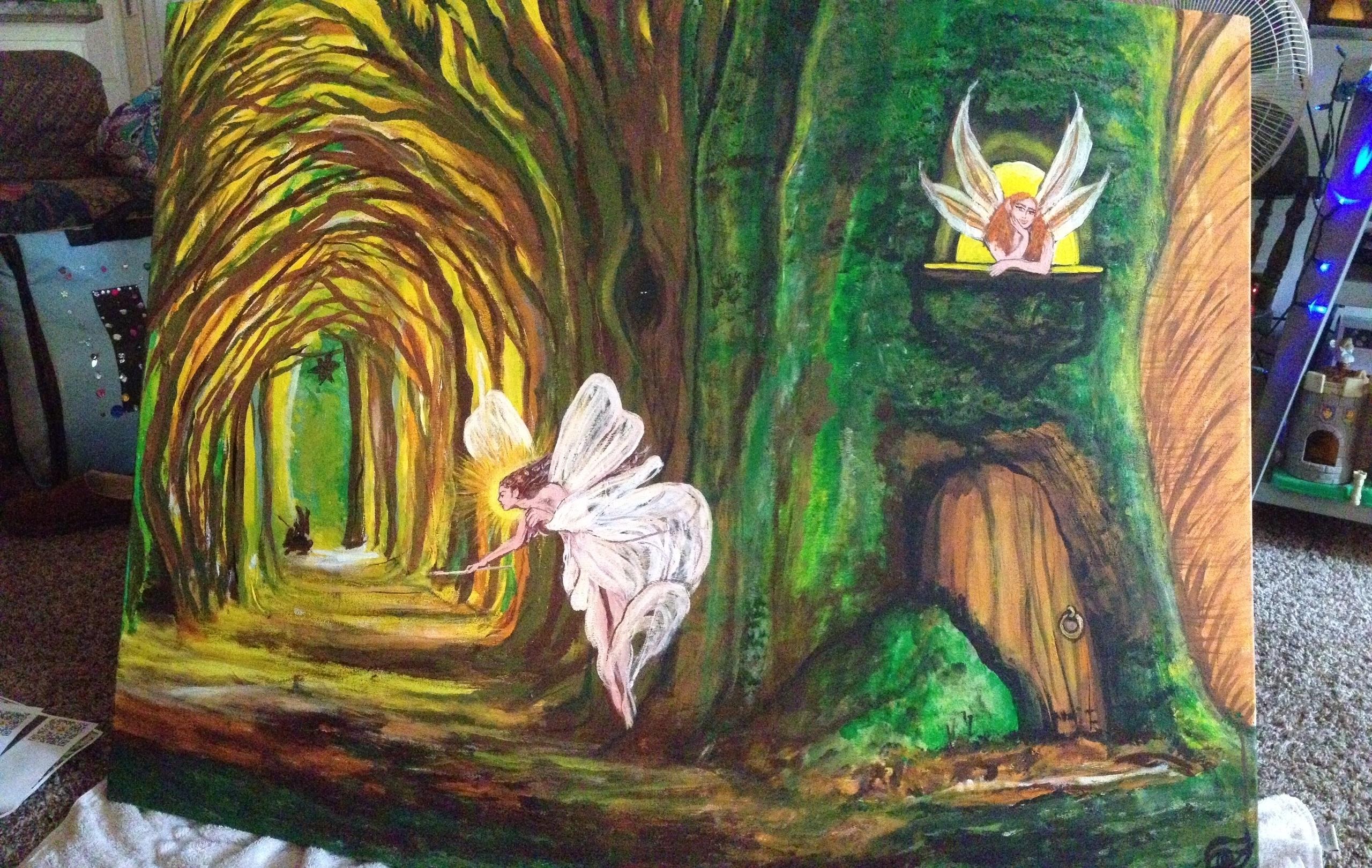 Fairy Fort - #fairyfort#acrylic - kpowell-1395   ello