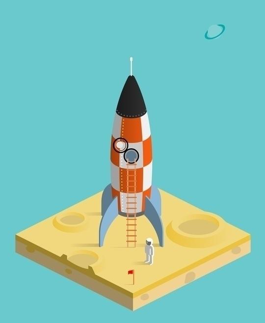 man moon - space, astronaut, crater - anilyanik   ello