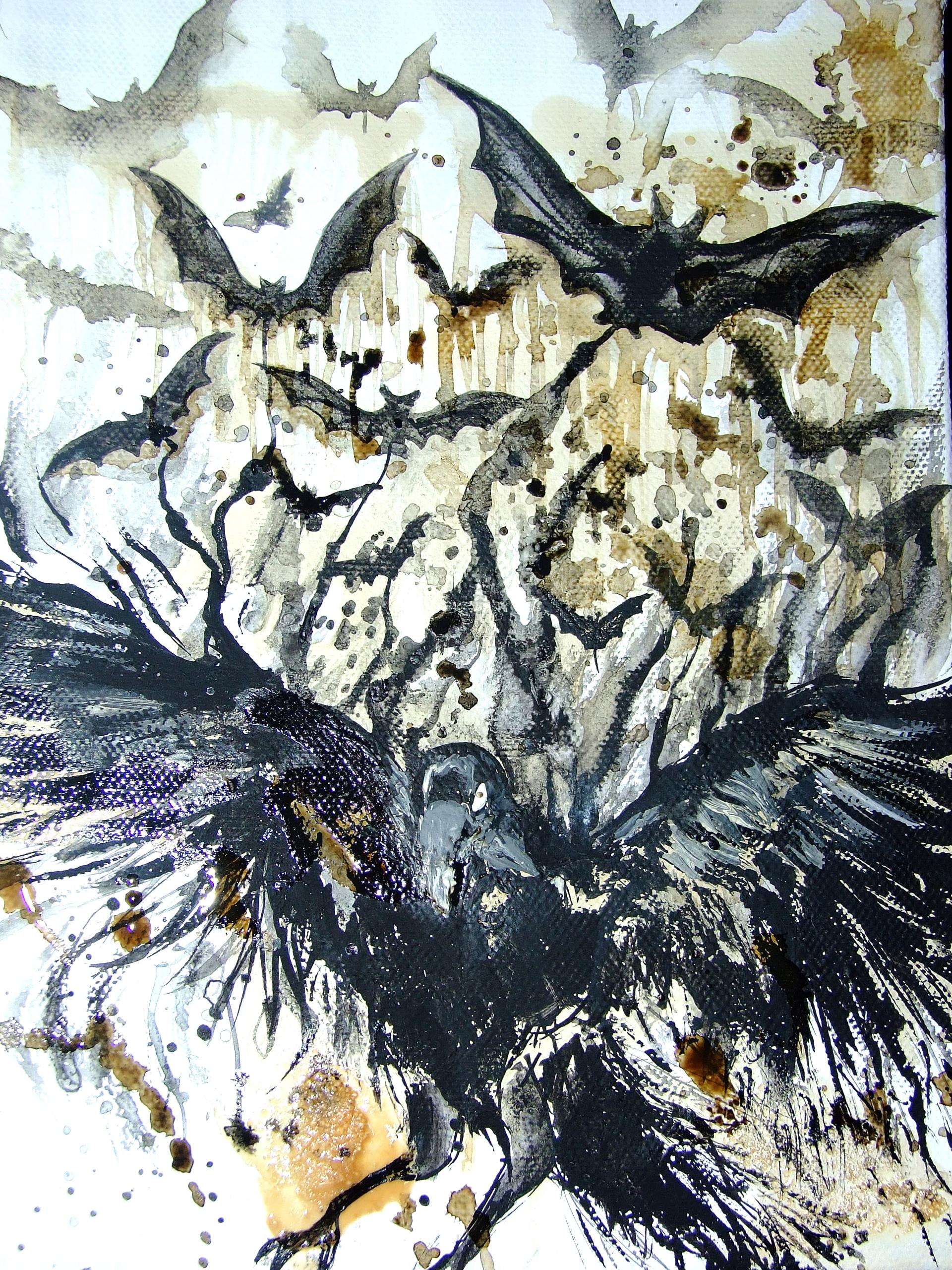 Bats acrylic coffee canvas, aaa - aiakira   ello