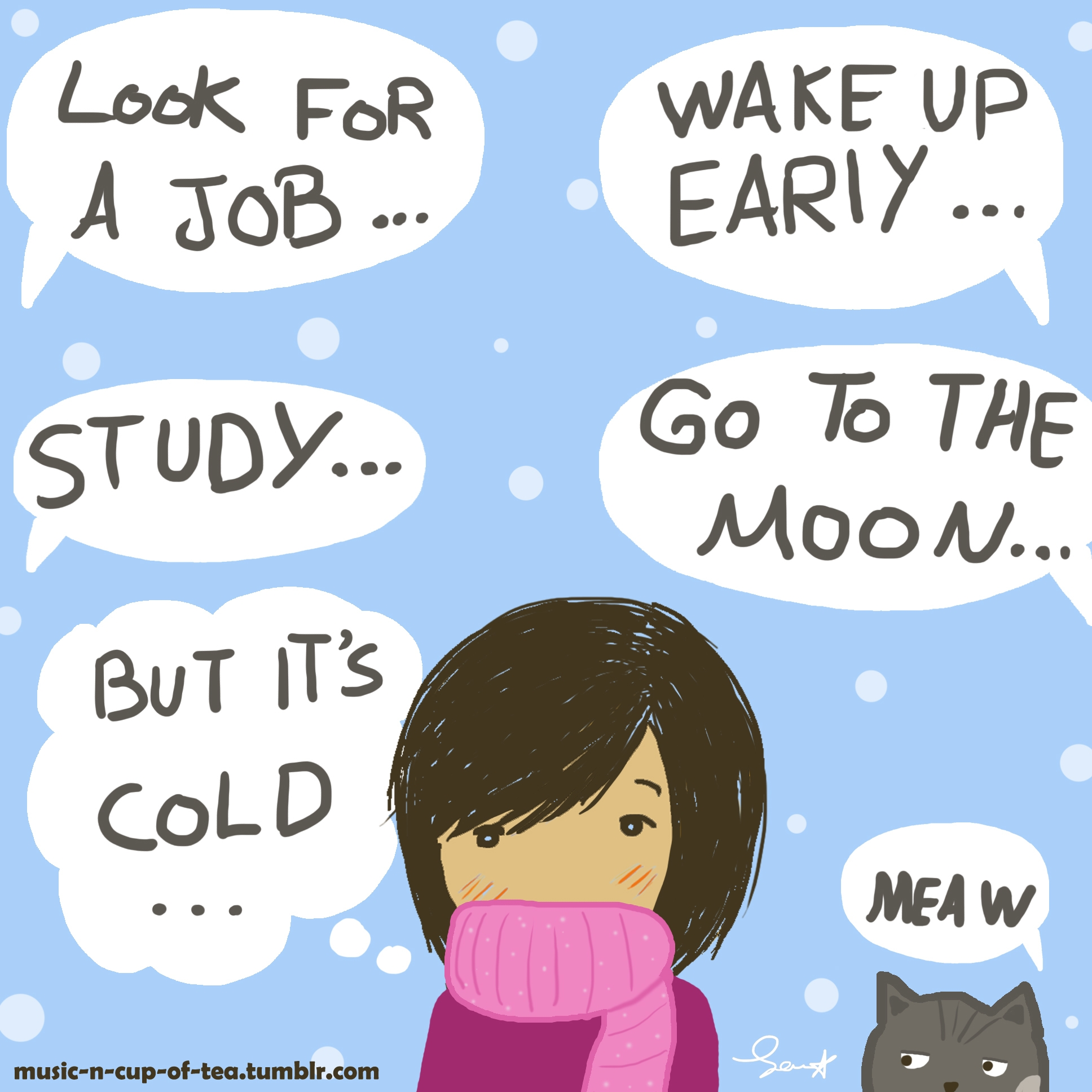 cold  - comics, webcomics, art, winter - samira-4834 | ello