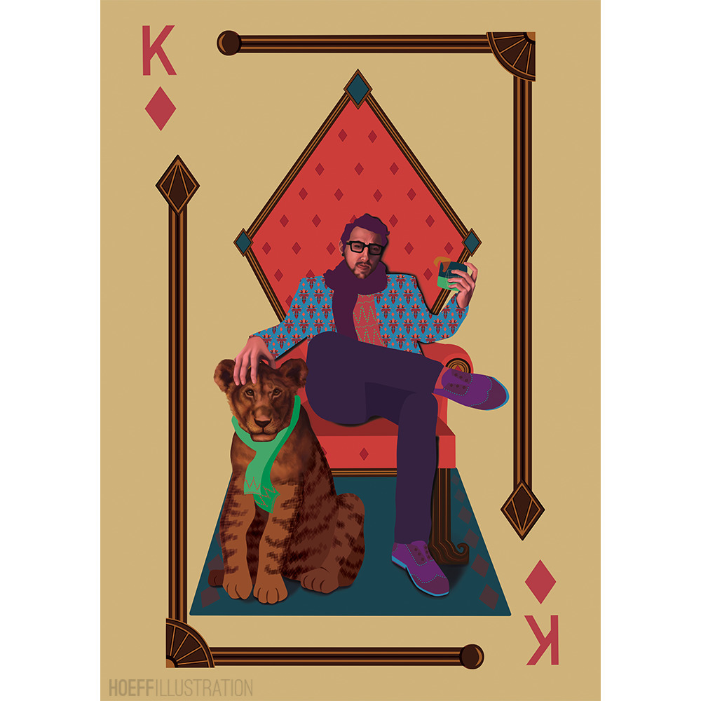 King Diamonds - illustration, painting - alexhoeffner-7715 | ello
