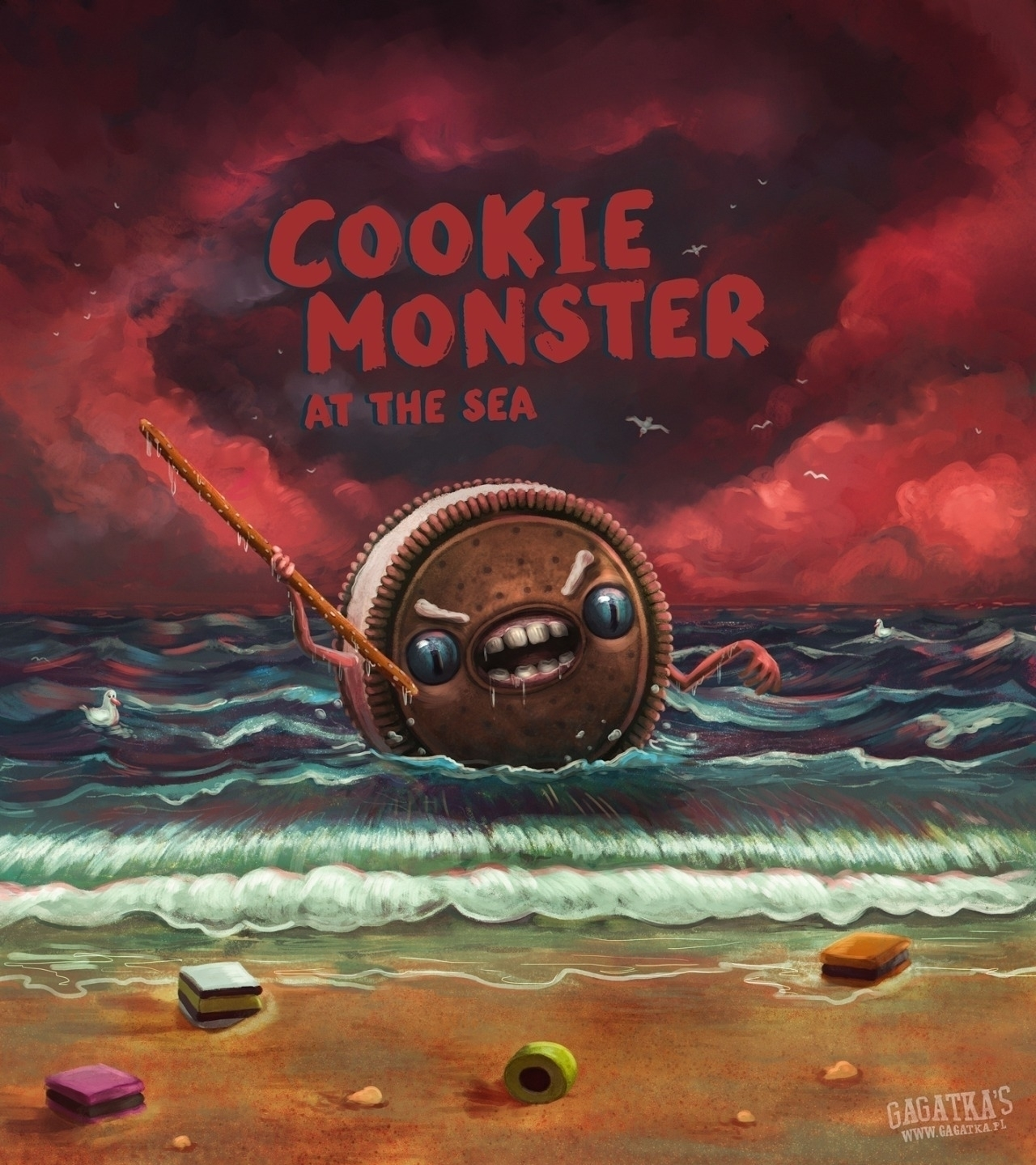 Cookie Monster sea bad! beware - gagatka | ello