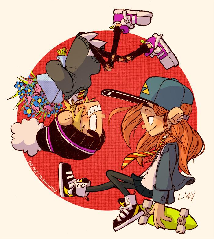 Flowers girl - illustration, characterdesign - laurenmay-1325   ello