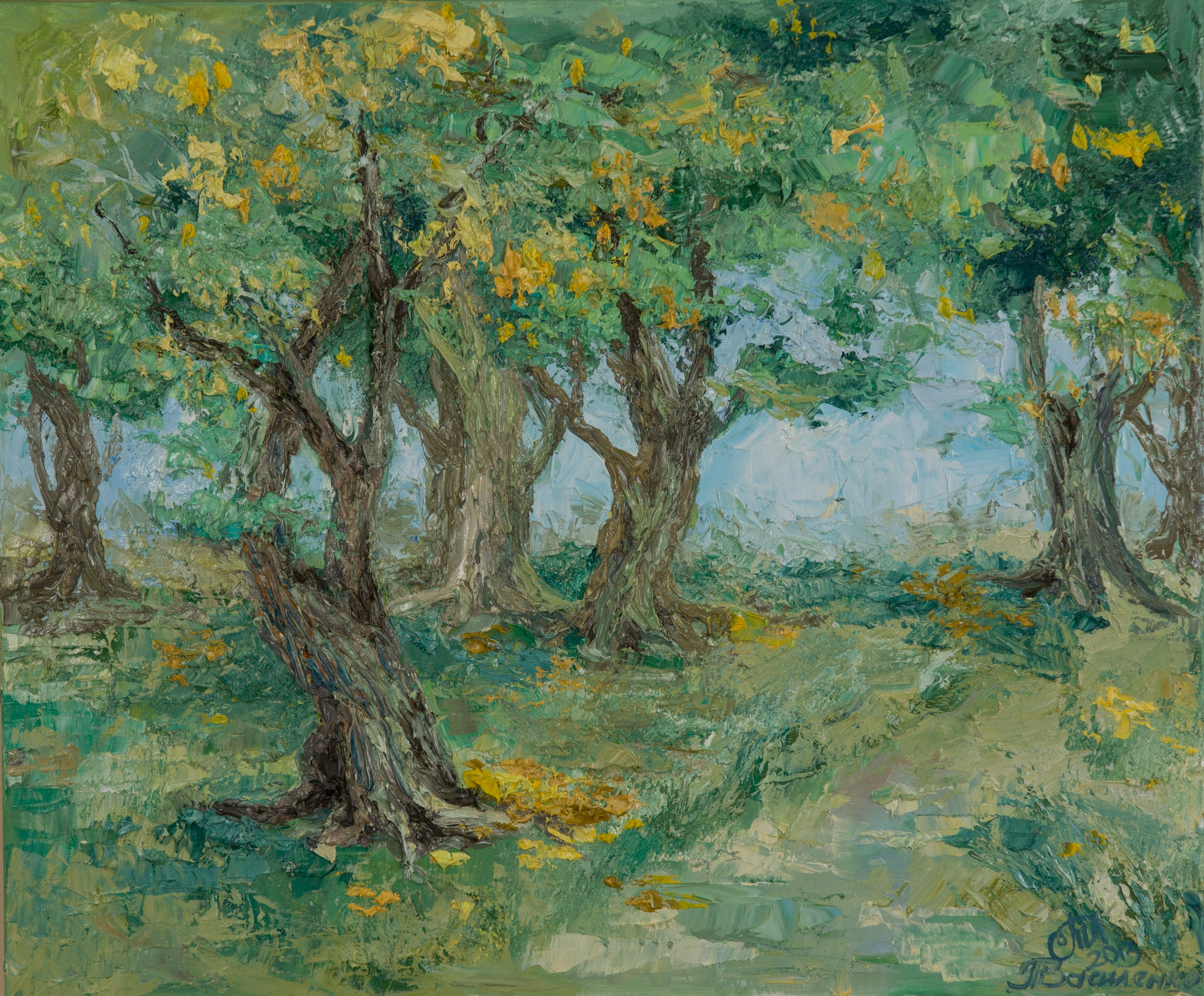 Forest walk 50x60 Oil canvas. 2 - tanya_vasilenko | ello