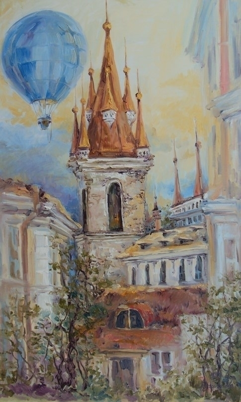 City dreams 100x60 Oil canvas.  - tanya_vasilenko | ello