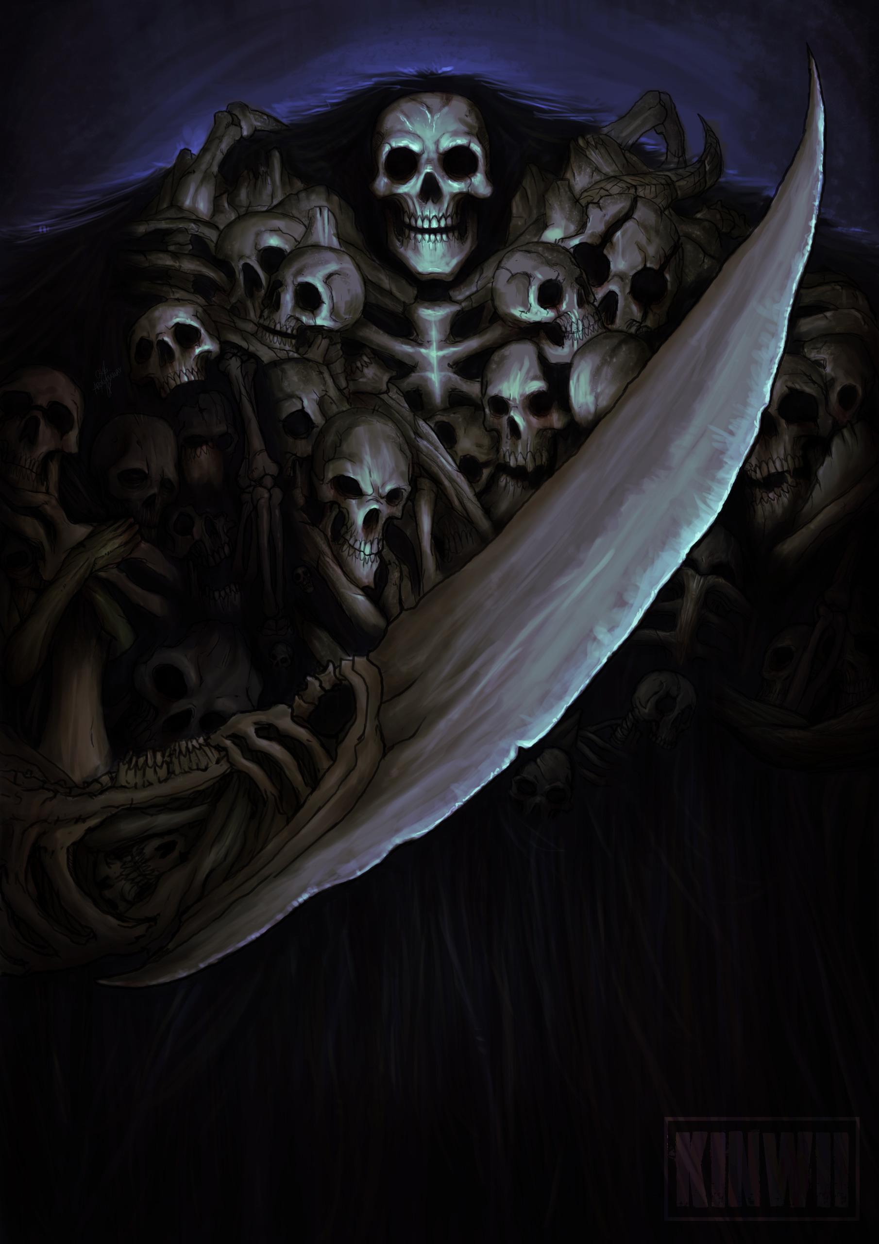 Gravelord Nito, Dead Dark Souls - kinwii | ello