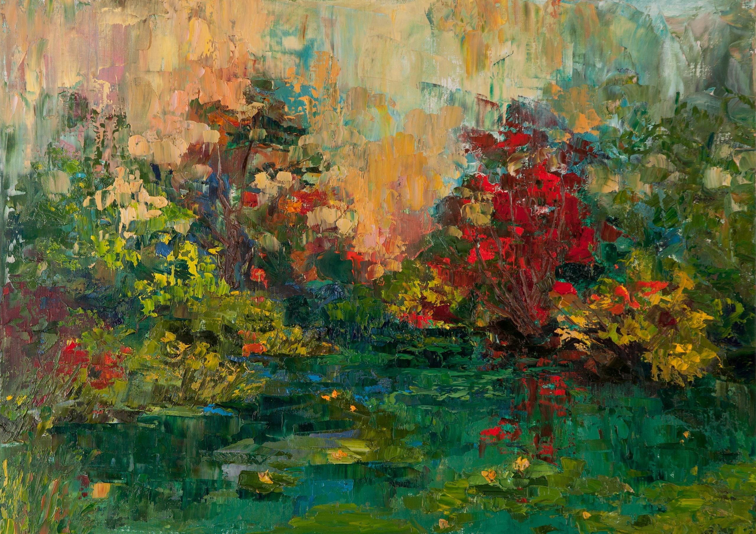 Abandoned Pond Painting, 50 70  - tanya_vasilenko | ello