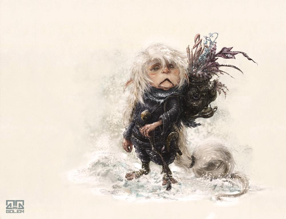 sprite snow - spirit, goblin, small - inkgolem | ello