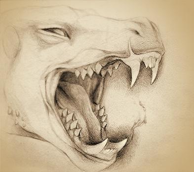 Fangs - original illustration A - rocky-1221   ello