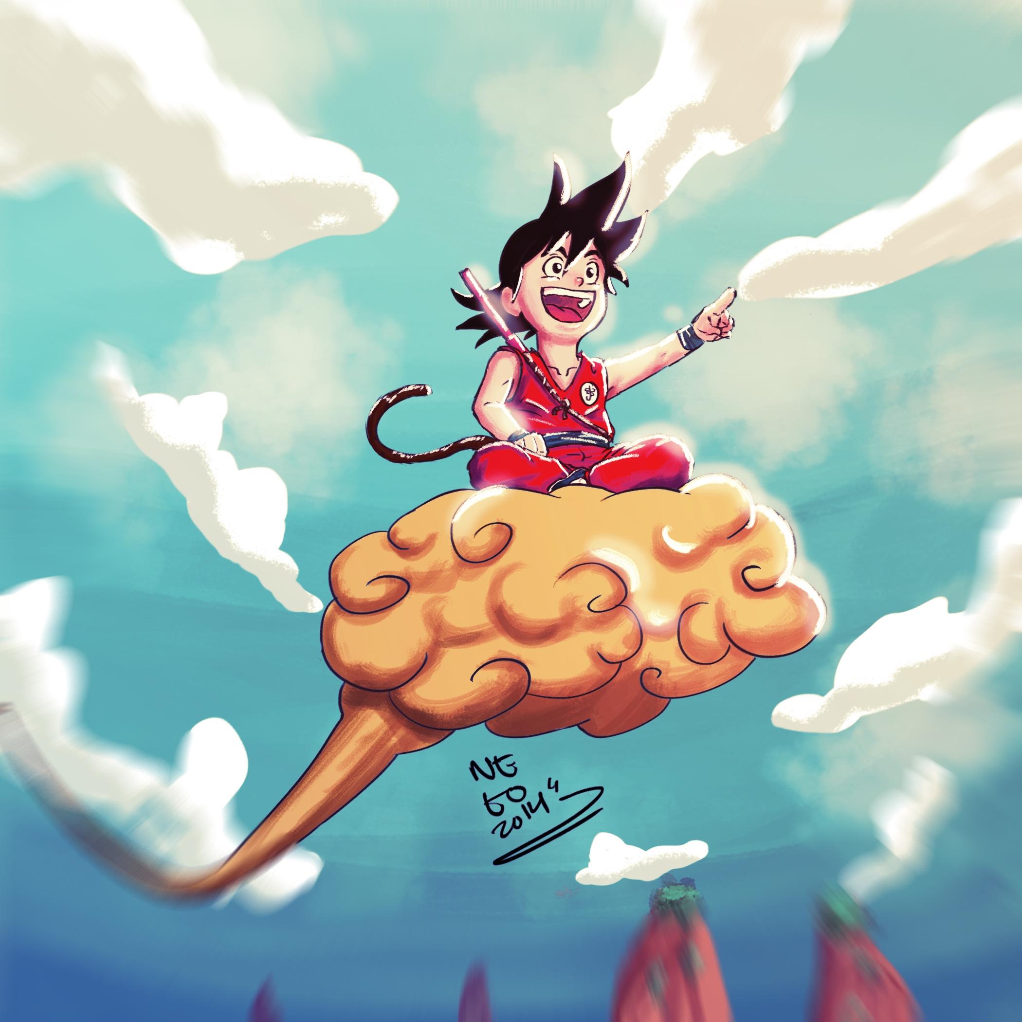 Color sketch Son Goku, childhoo - netocanessa | ello