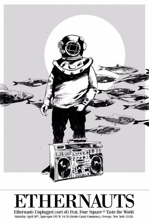 Poster Ethernauts, 2016. Digita - pensandpedals   ello