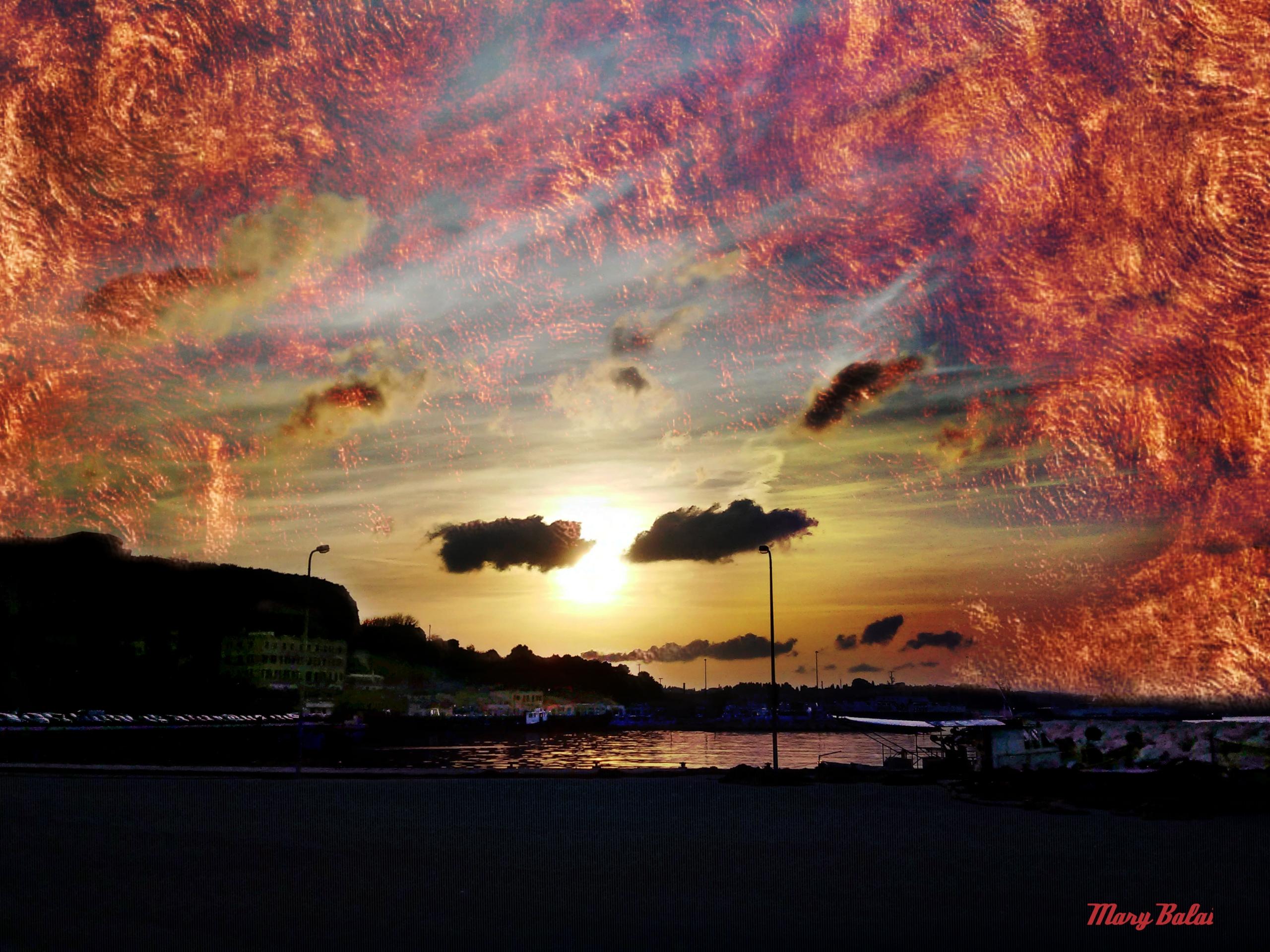 Sunset colors Corfu - sunset, photography - mairoularissa | ello