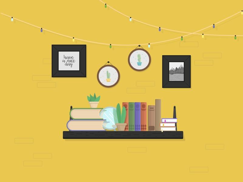 • Shelfie flat illustration - books - alicebukhovski   ello