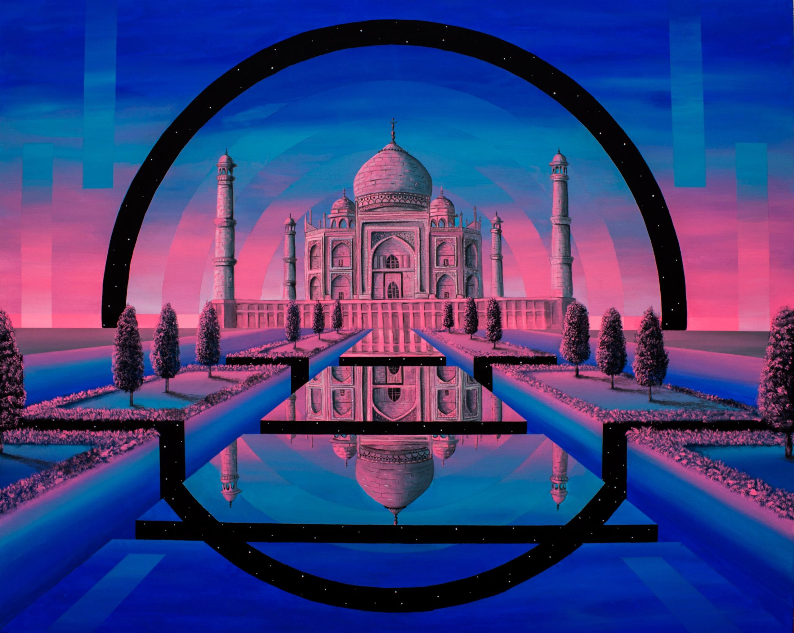 Taj Mahal Acrylic canvas 92 73  - irenelopezleon | ello