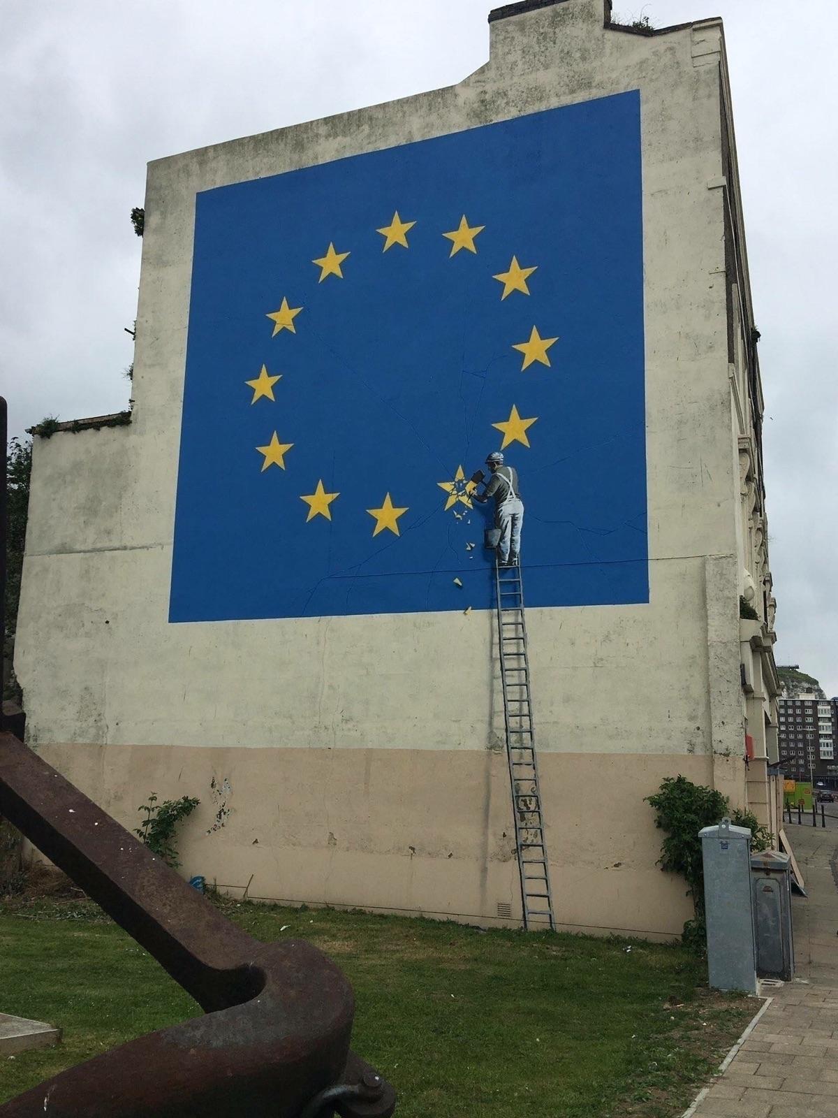 Banksy mural addressing Brexit  - streetartunitedstates   ello