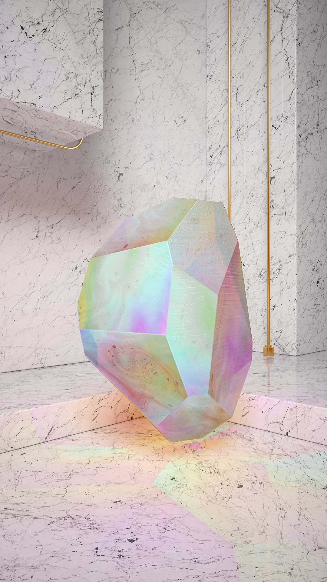Crystal Series: Marble - iridiscent - molistudio | ello