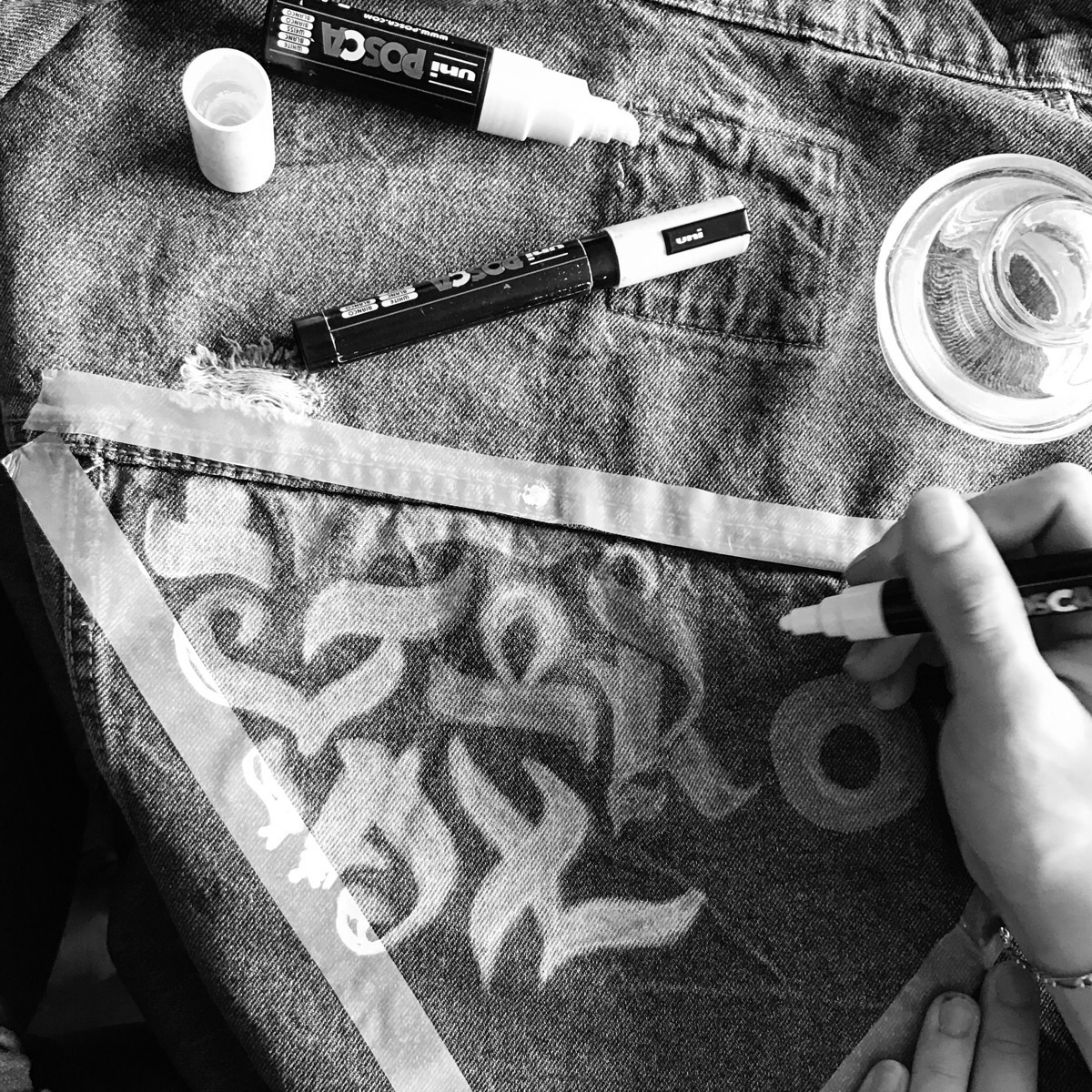 Makin' calligraphy jean jacket - darksnooopy | ello