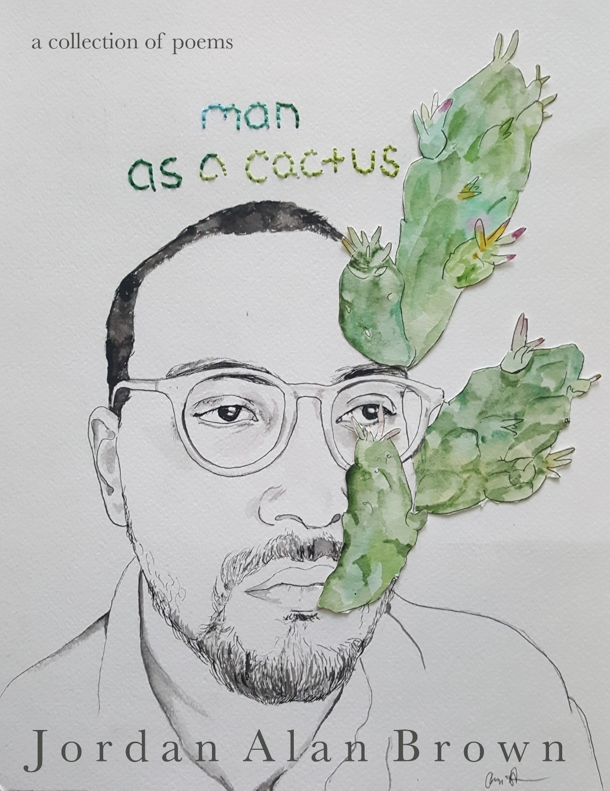 announce release chapbook, Man  - jordan-alan-brown | ello