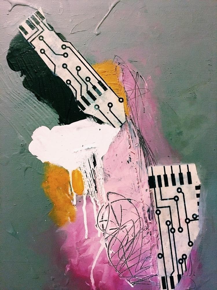 painting, mixedmedia, memory - addyeb | ello