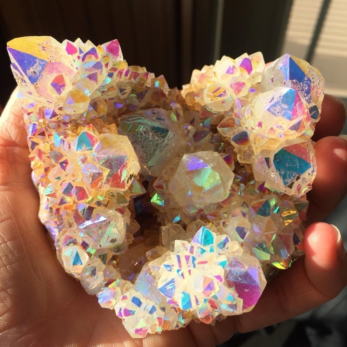colors Rainbow Aura Spirit Quar - midnightauracrystals | ello