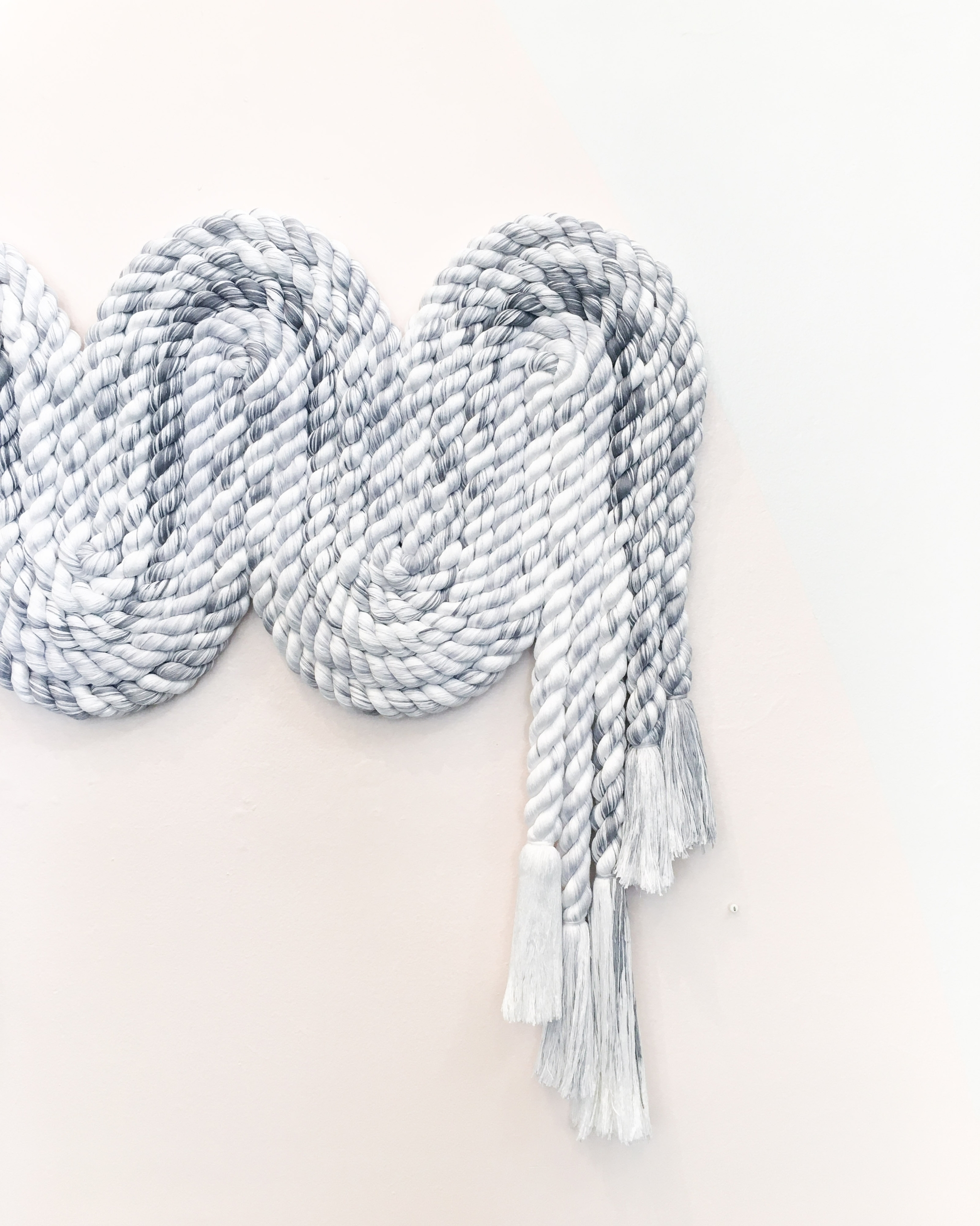 Grey Squiggle - hand-spun dyed  - cindyzell | ello