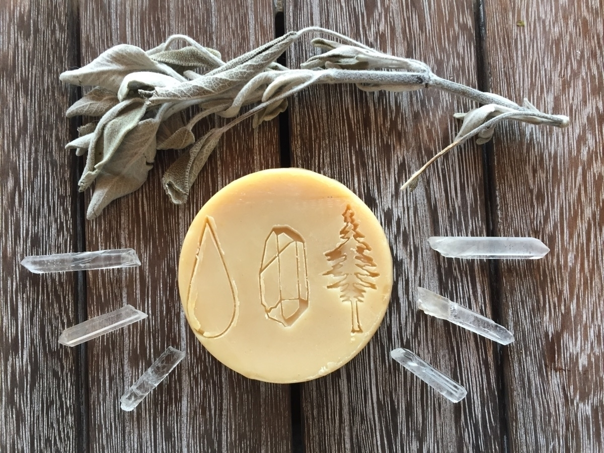 Smudge Carrot Sage face soap so - seasideherbsandoils   ello