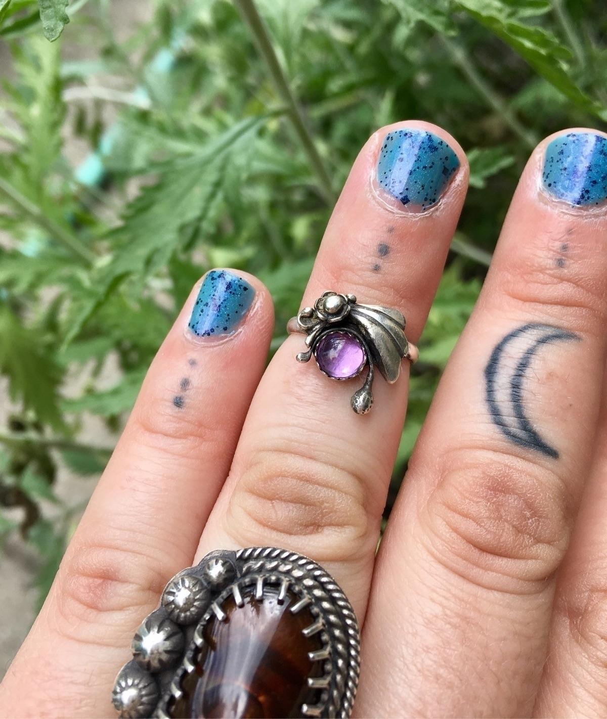 Shooting Star Flower Midi Ring - willowmetals | ello
