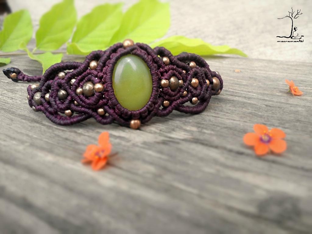 Jungling Green Jade bracelet bu - macramental | ello