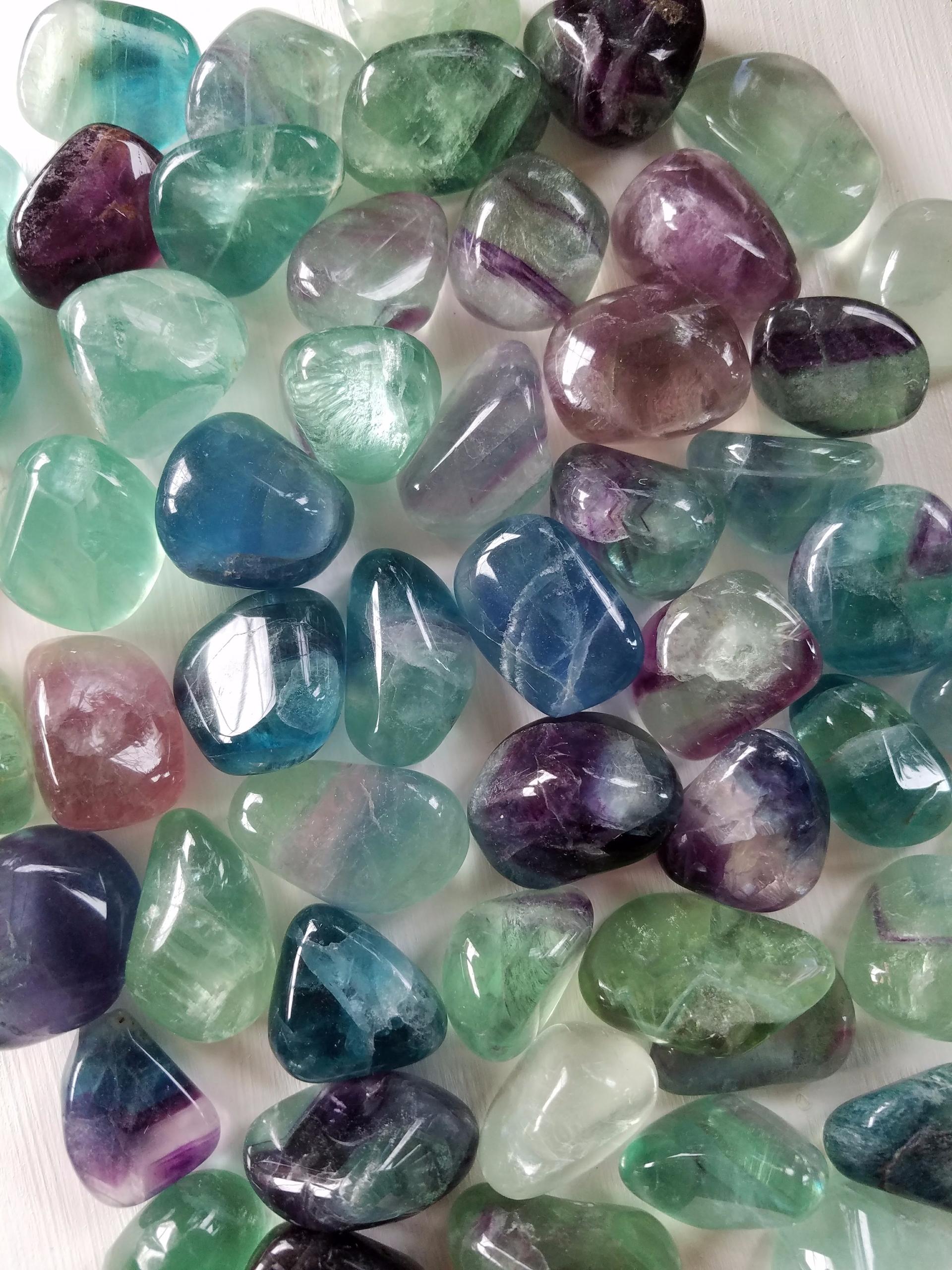 good variety rainbow fluorite t - monkandmoon | ello