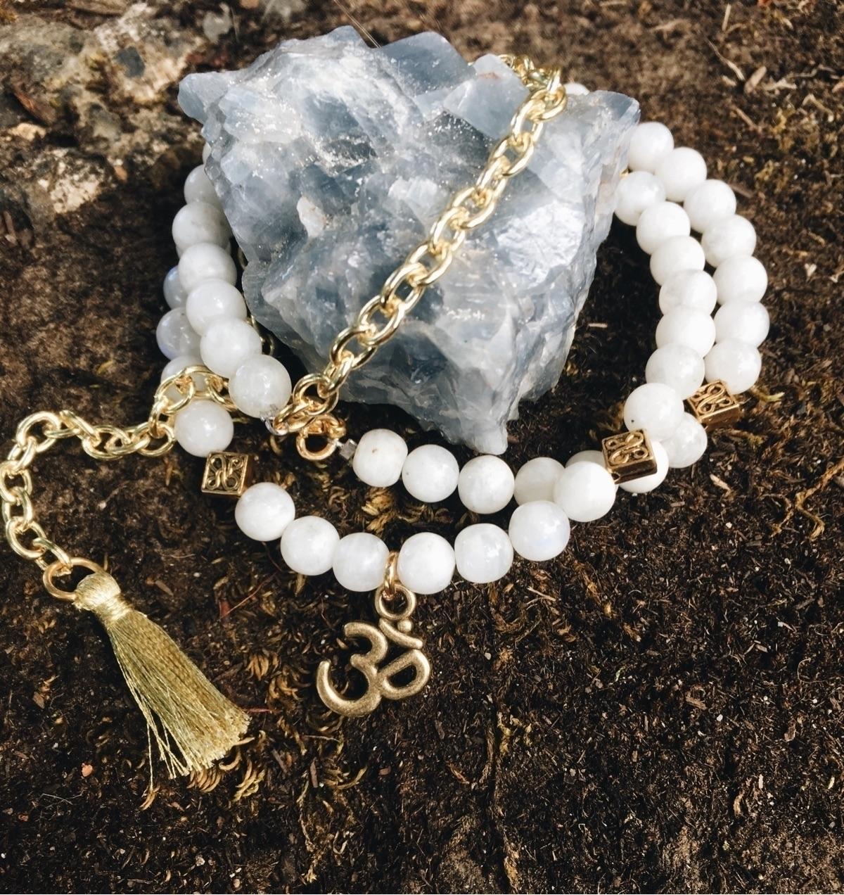 wrap bead chain bracelet! moons - gypsyxjewels | ello
