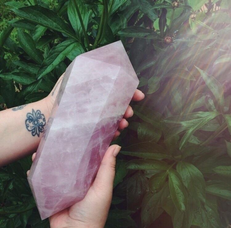 Rose quartz - boho, bohemian, handmade - the_opaque | ello