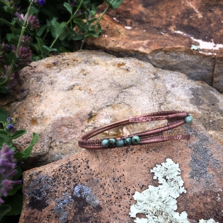 African Turquoise double wrap b - creationsbycass   ello