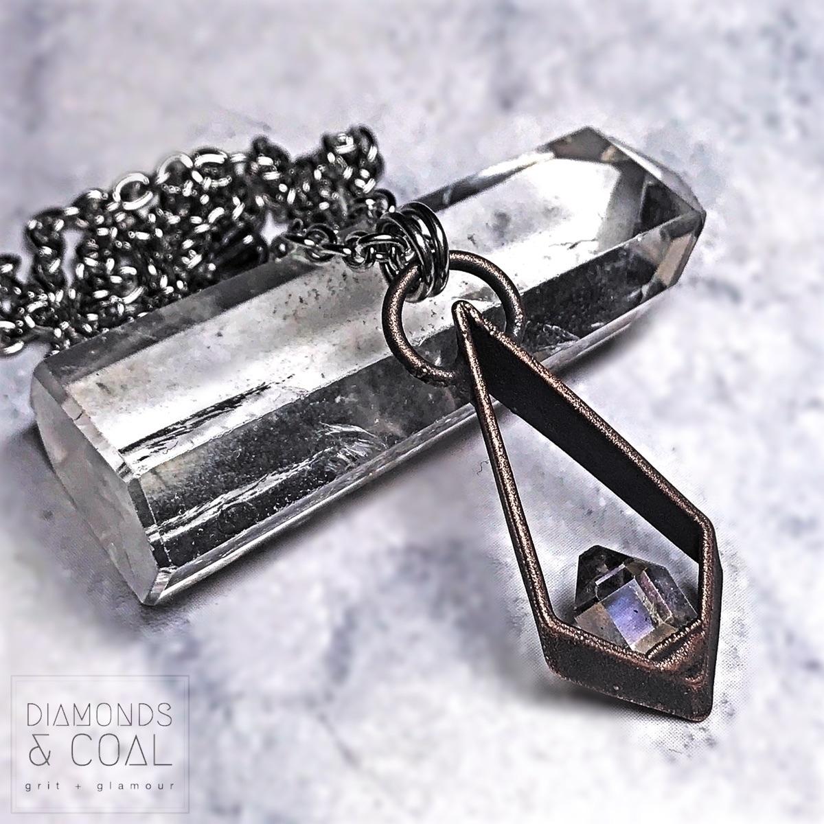 Angel Aura Herkimer pics -  - crystaljewelry#rawcrystals - diamondsandcoaljewelry | ello