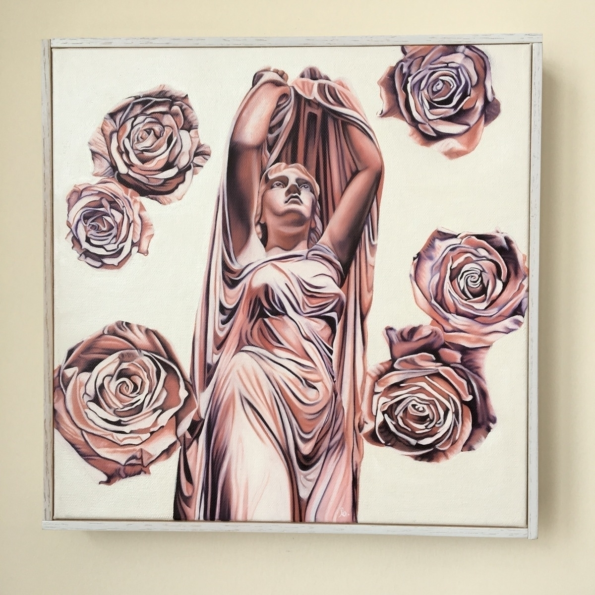 Undine oil canvas, 12 inches - brandiread | ello