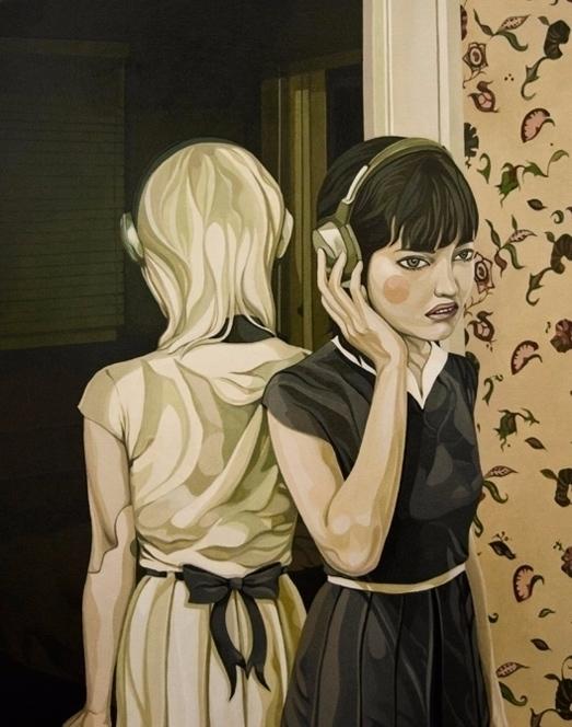 'Sisters', Oil Wood Panel, 11 1 - enelojial | ello