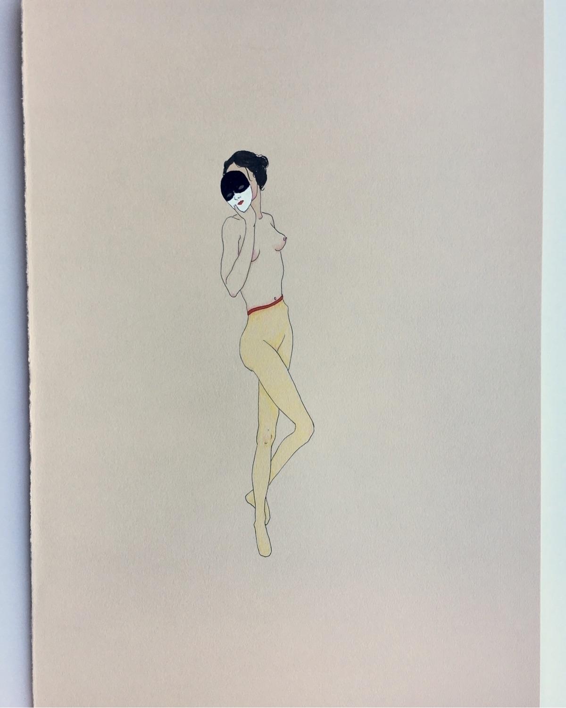kunst, drawing, inkonpaper, revealing - lorettamae   ello