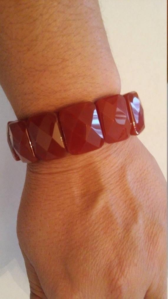 Lovely Red Facet Carnelian Brac - jewelsbyvittoria | ello