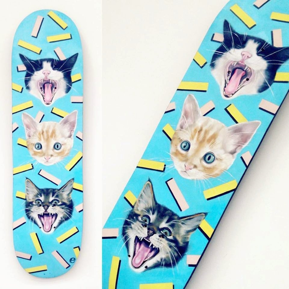 oil painting Fear^_^ - cat#kitten - emmamount | ello