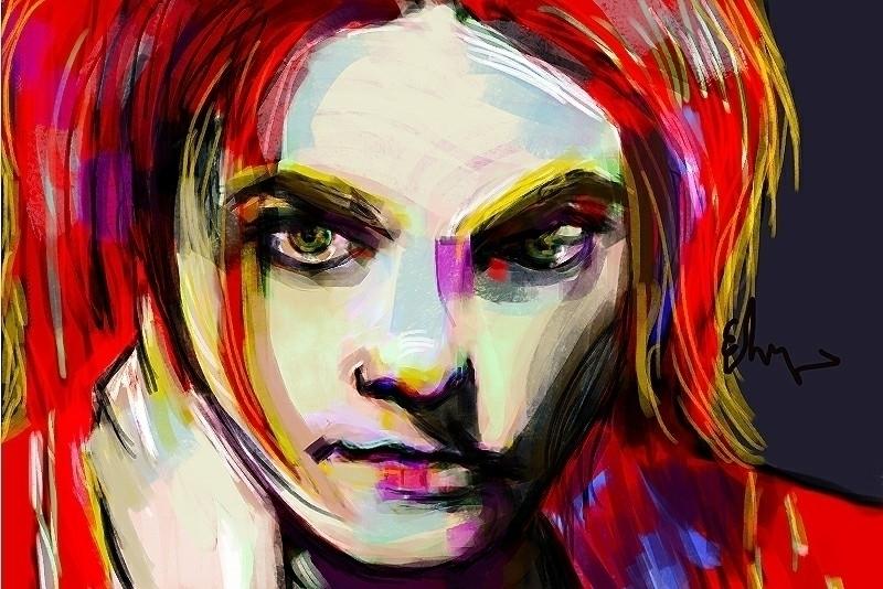 hazel eyes - portrait, popart - andaelentari | ello
