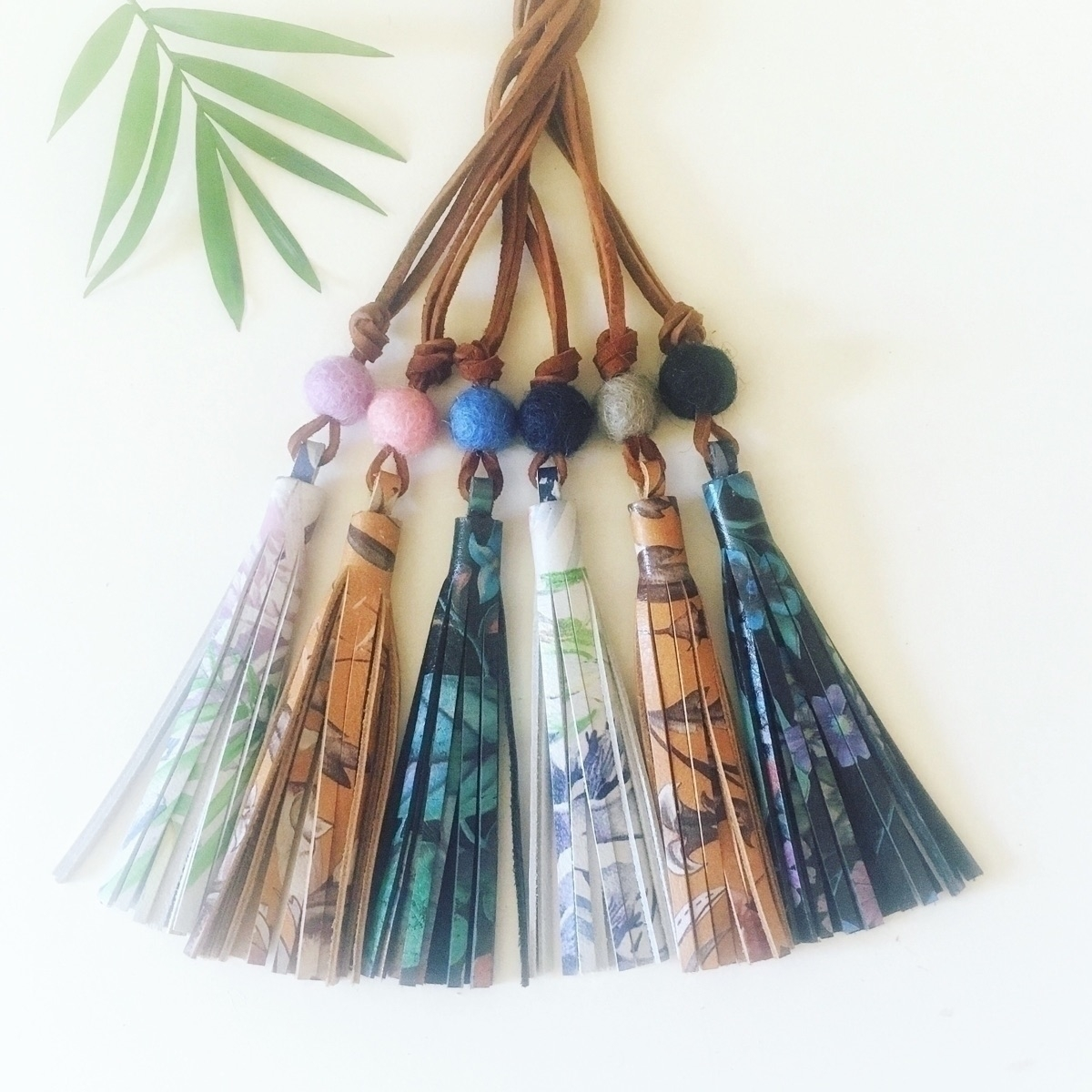 Floral leather tassel necklaces - alijaneandco | ello