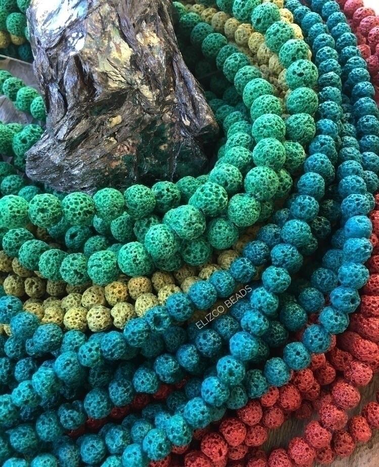limited stock colorful lava bea - elizcobeads | ello