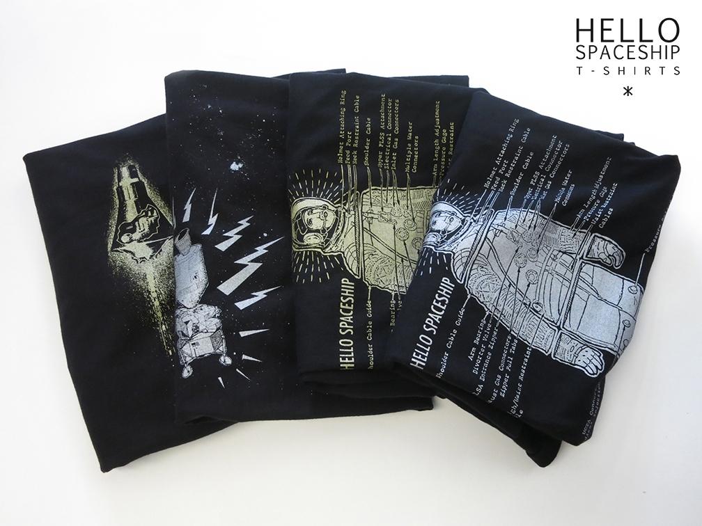 spaced hellospaceship.com - tshirt - hellospaceship   ello