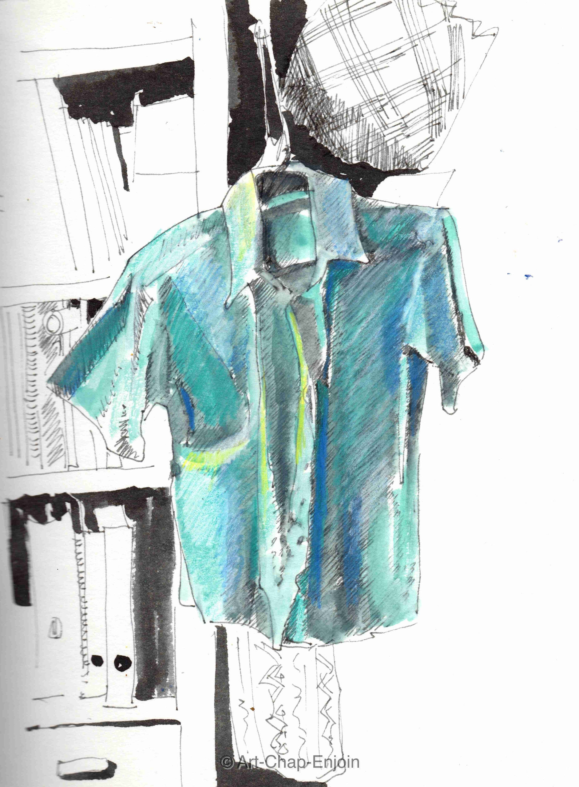 - Favourite shirt evening sketc - artchapenjoin | ello
