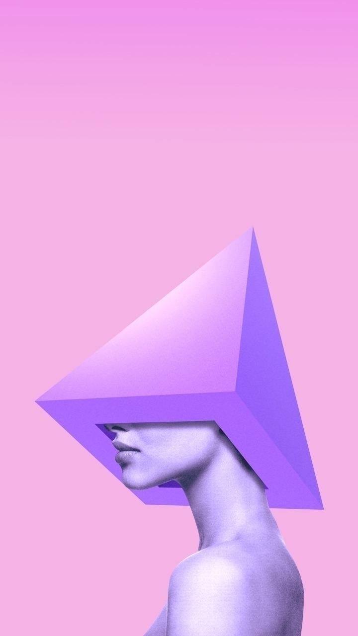 Pyramid Woman - design, woman, pink - valenvq | ello
