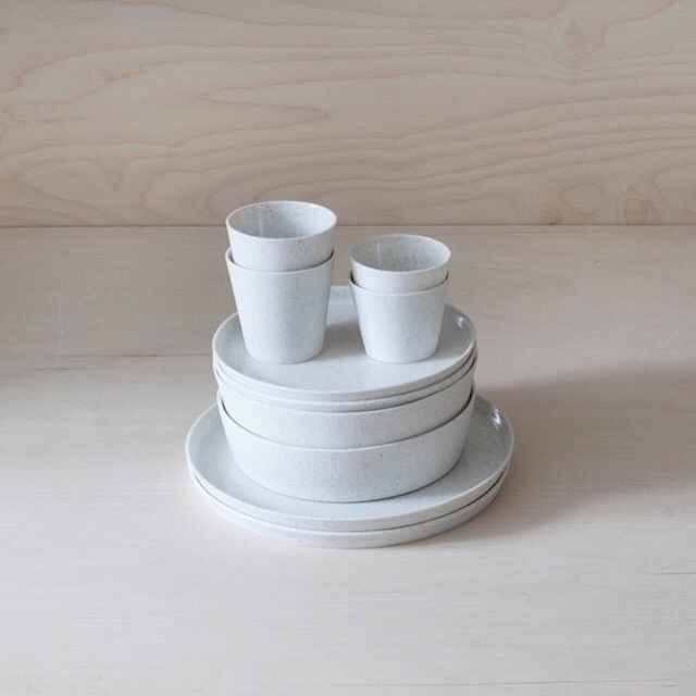 Peppered white porcelain set 2 - elliottceramics | ello