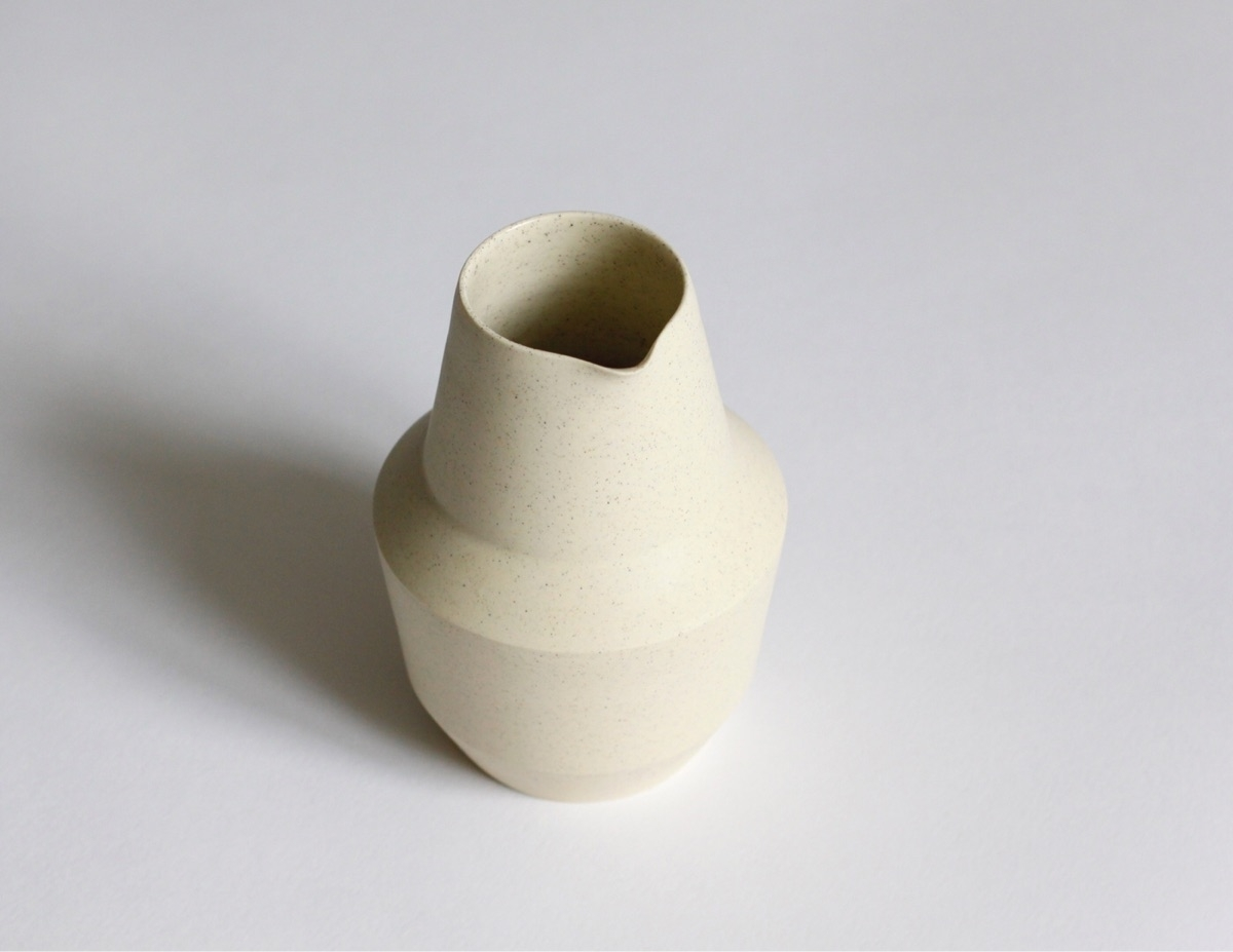 Speckled yellow porcelain caraf - elliottceramics | ello
