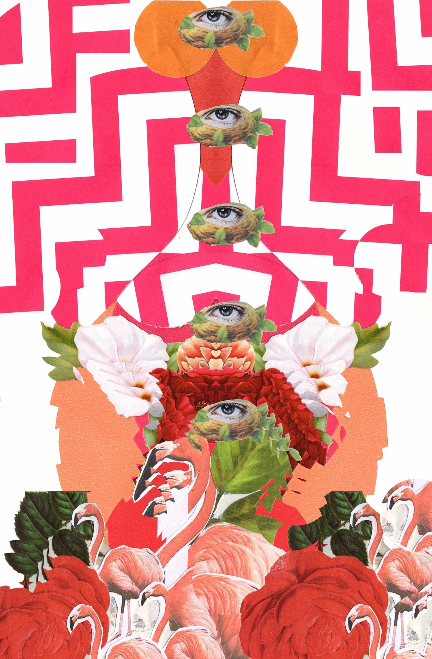 Flamingo - collage, paper, digitalcollage - franalvez | ello
