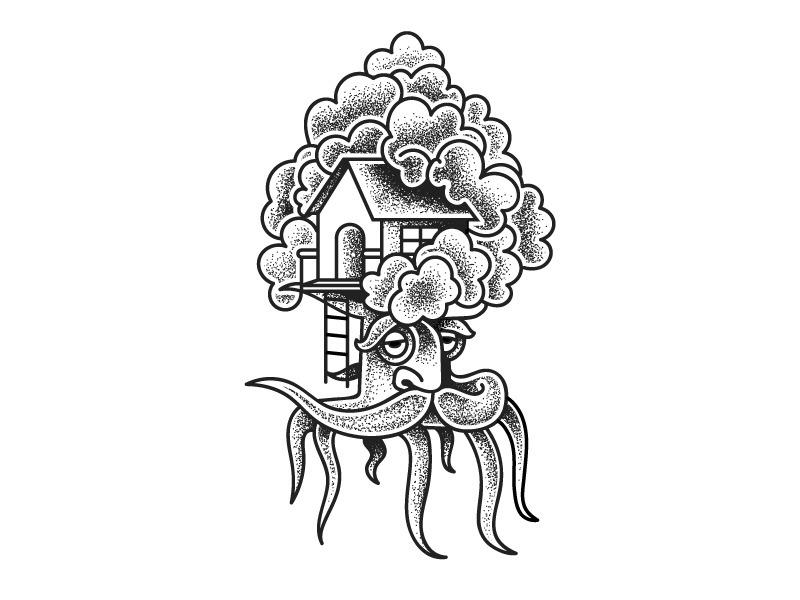 Tree House (Copenhagen Poster S - darumacreative | ello