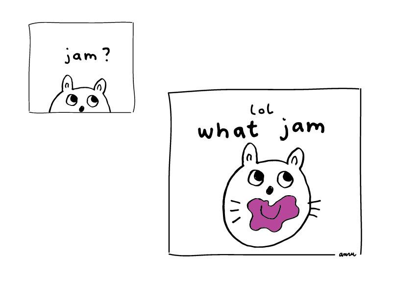 lol jam - comic, illustration, bunny - anzooo | ello