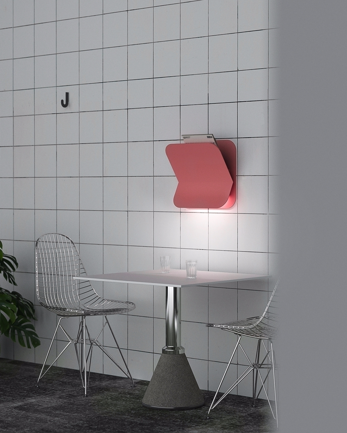 Asketik wall lamp shelf - asketik | ello